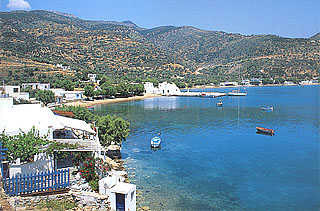 SIFNOS - View of Vathy, a beautiful beach