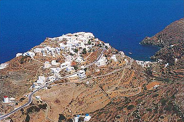 SIFNOS KASTRO - View of Kastro, the best preserved settlement on the island of Sifnos