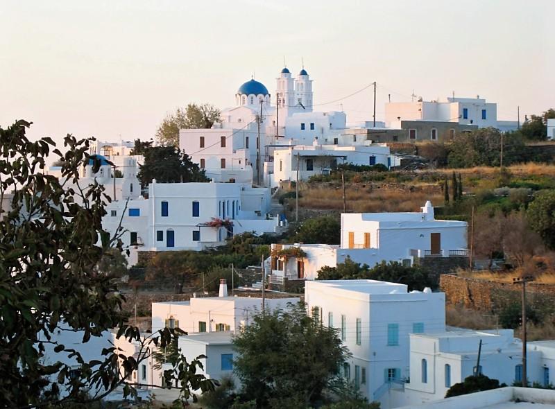 Agios Ioannis Church - The village of Artemonas on the Greek island Sifnos at dawn.