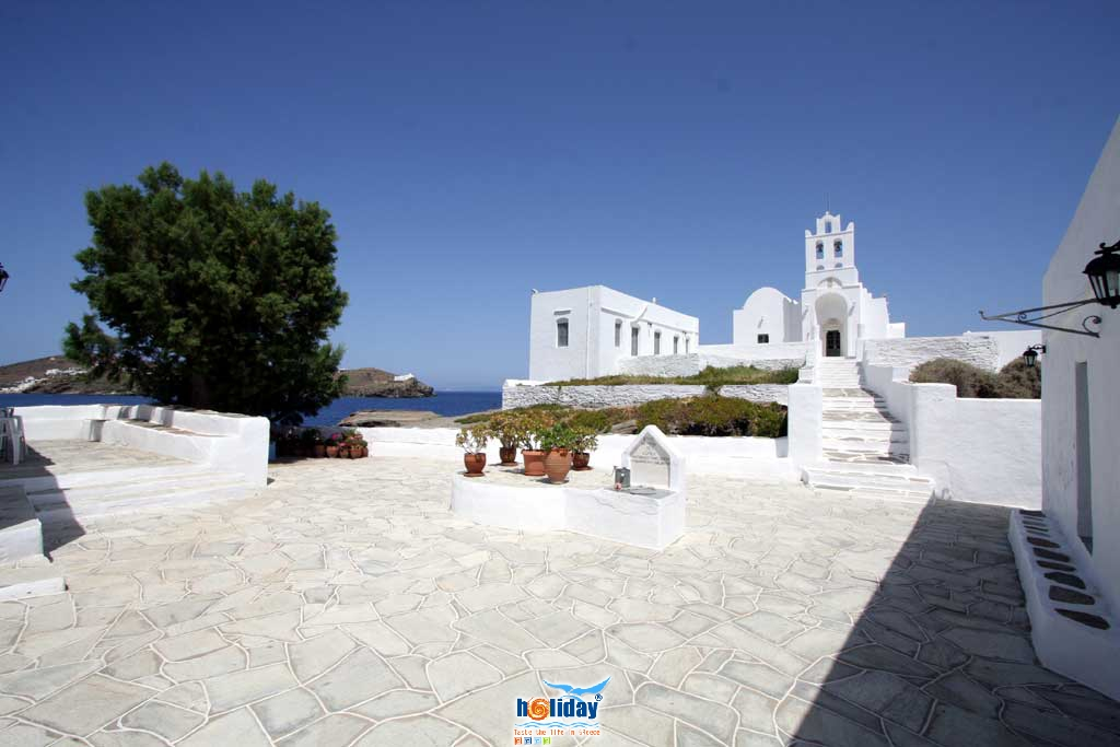 View of Crygopigi church from inside the monastery SIFNOS PHOTO GALLERY - Crysopigi church by Ioannis Matrozos