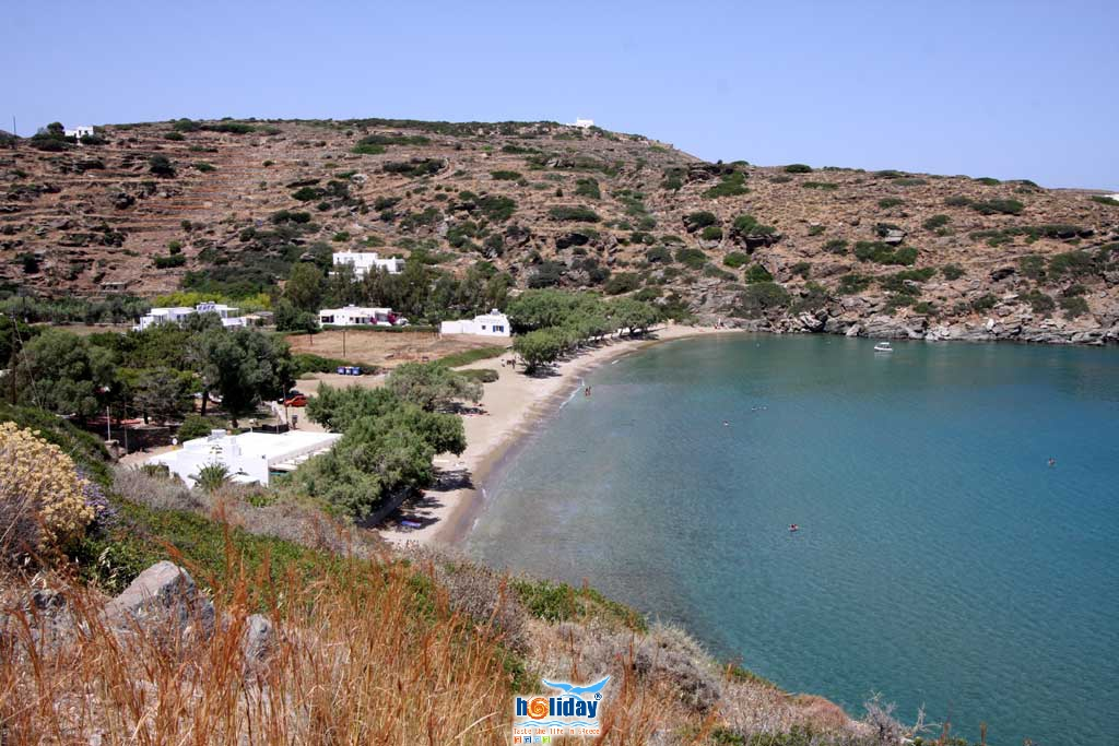 View of Chrysopigi beach from the parking SIFNOS PHOTO GALLERY - Chrysopigi beach by Ioannis Matrozos