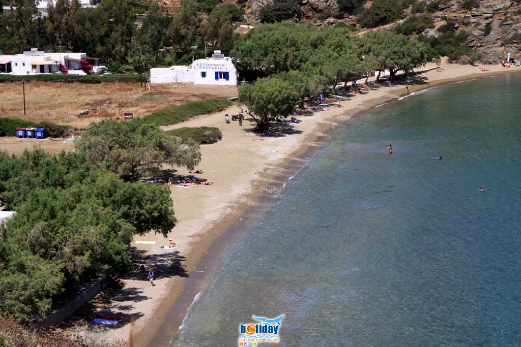 Close up of the beautiful sandy beach of Chrysopigi. A great choise for swimming and lunch at one of the taverns SIFNOS PHOTO GALLERY - Chrysopigi beach by Ioannis Matrozos