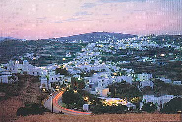 View of Appolonia at sunset SIFNOS PHOTO GALLERY - SIFNOS APPOLONIA