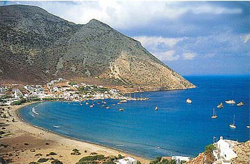 SIFNOS PLATYS GIALOS - View of the most known beach of the island, Platis Gialos